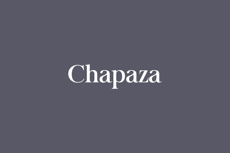 Chapaza Free Font