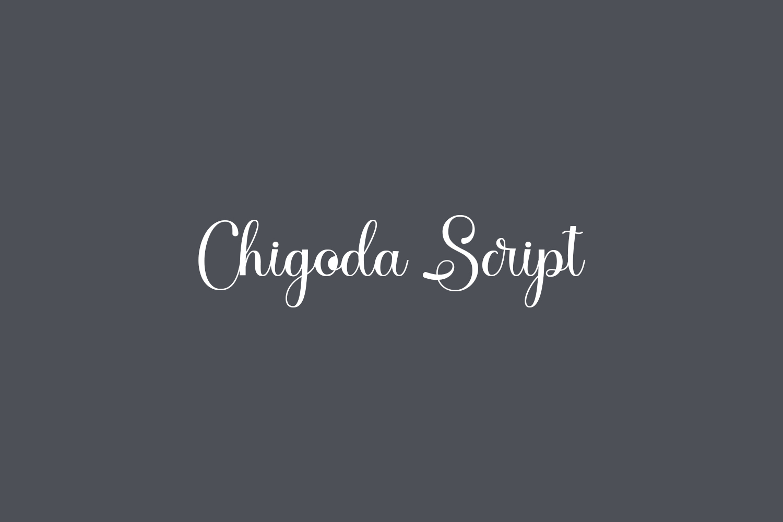 Chigoda Script Free Font