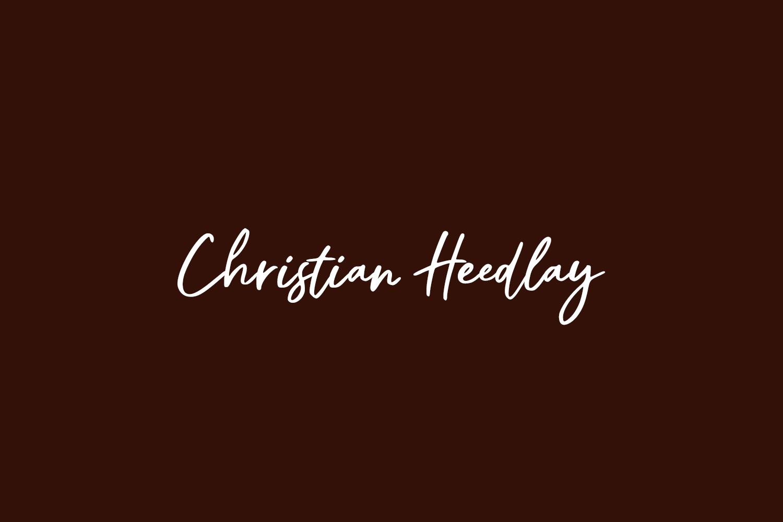 Christian Heedlay Free Font