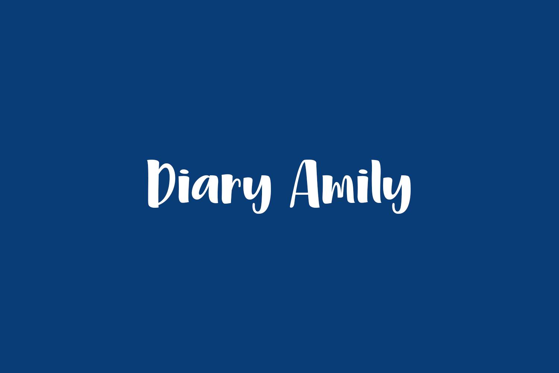 Diary Amily Free Font