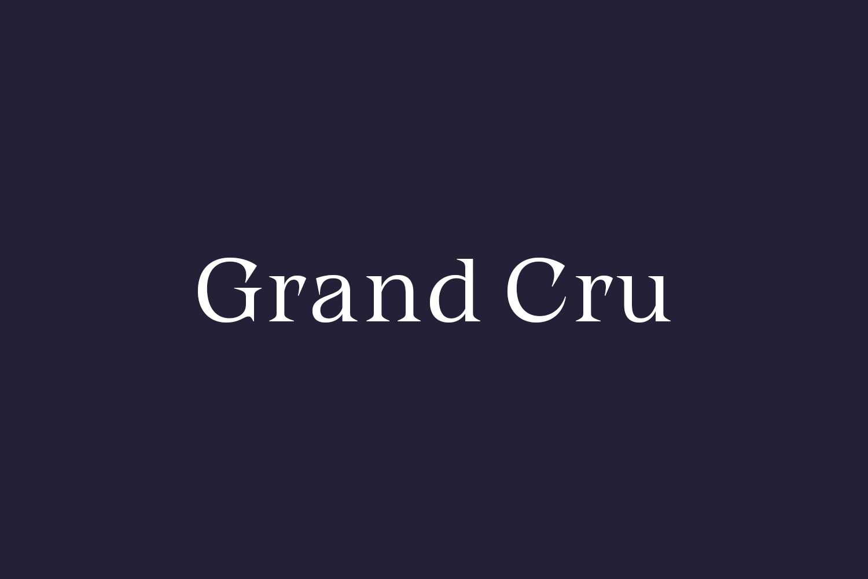 Grand Cru Free Font