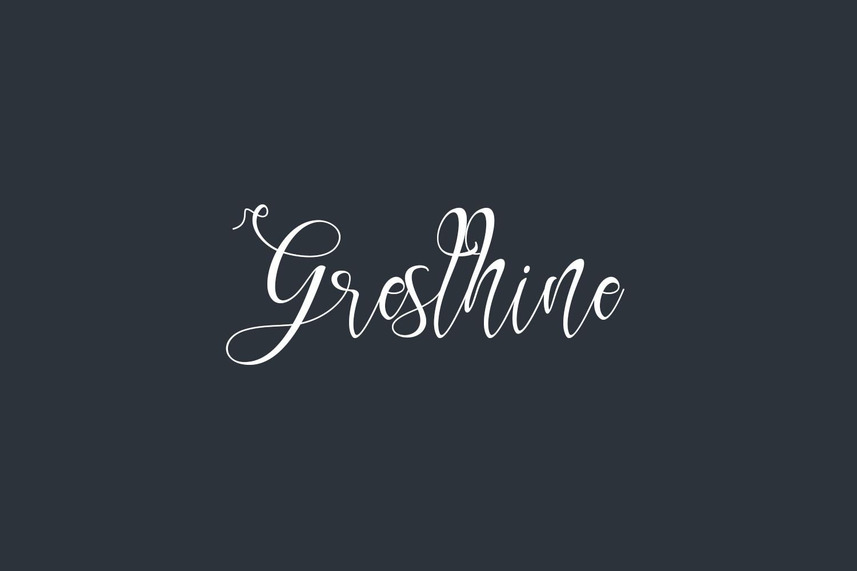 Gresthine Free Font
