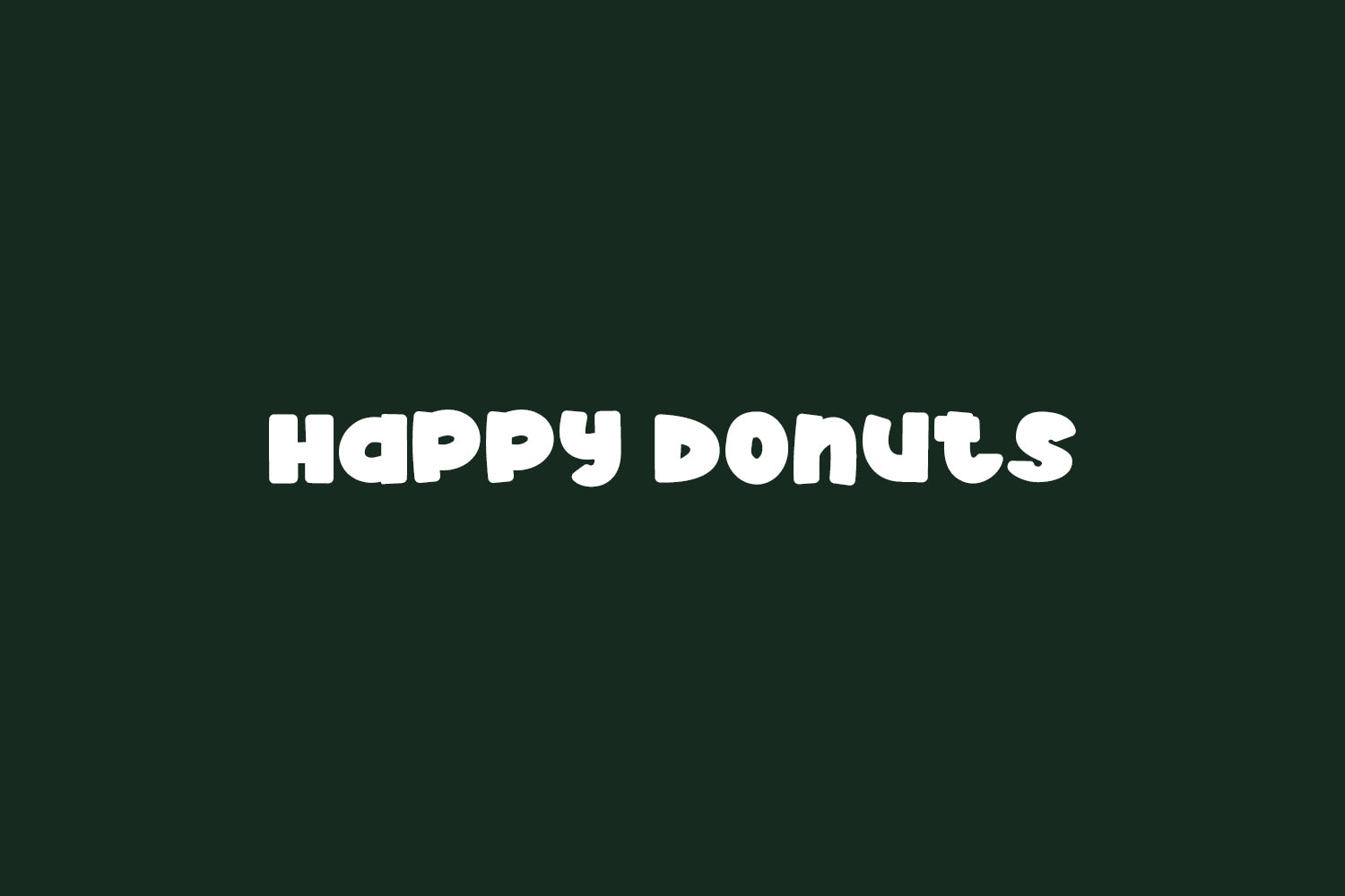 Happy Donuts Free Font
