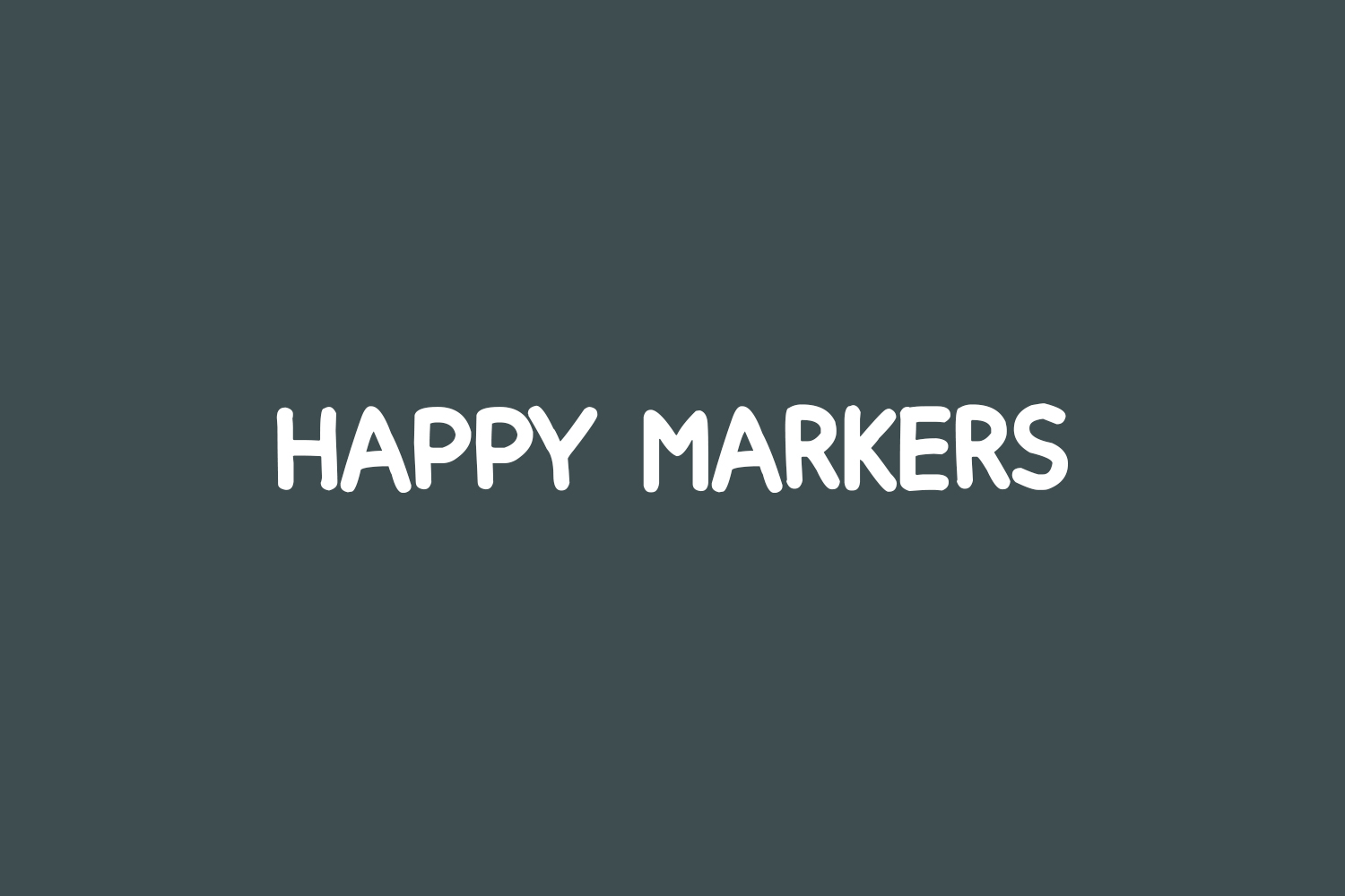 Happy Markers Free Font