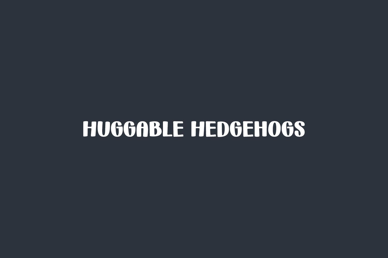 Huggable Hedgehogs Free Font