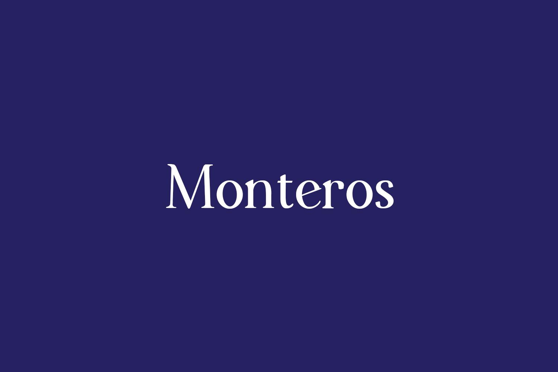 Monteros Free Font