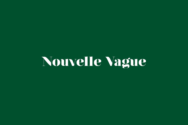 Nouvelle Vague Free Font