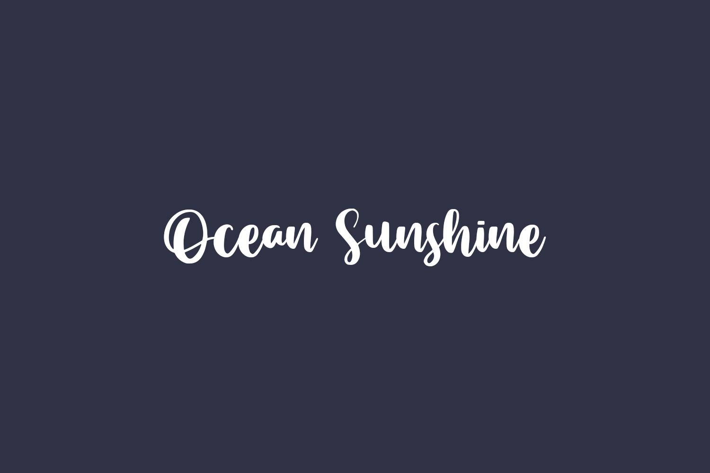 Ocean Sunshine Free Font