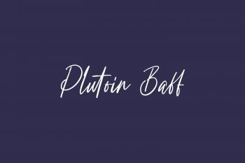 Plutoin Baff Free Font
