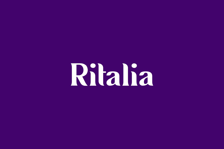 Ritalia Free Font