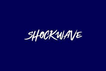 Shockwave Free Font