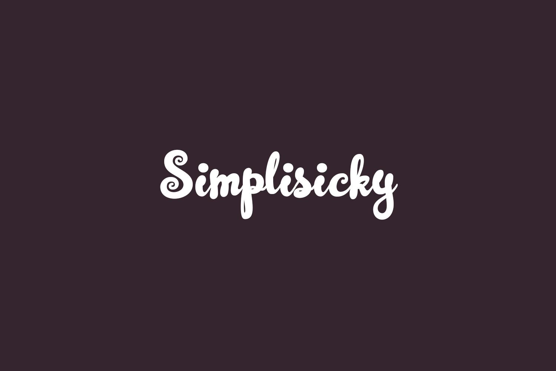 Simplisicky Free Font
