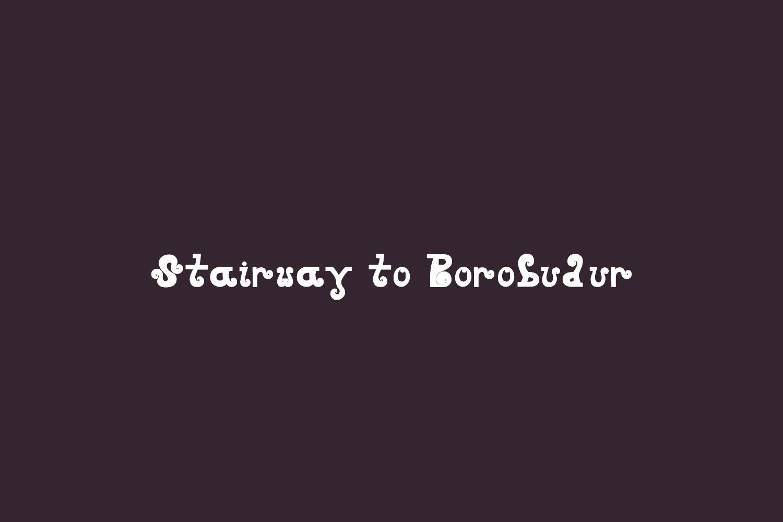 Stairway to Borobudur Free Font