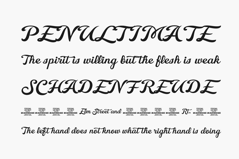 Struck Base Free Font