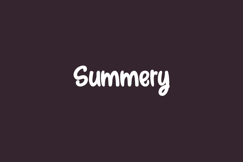 Summery Free Font