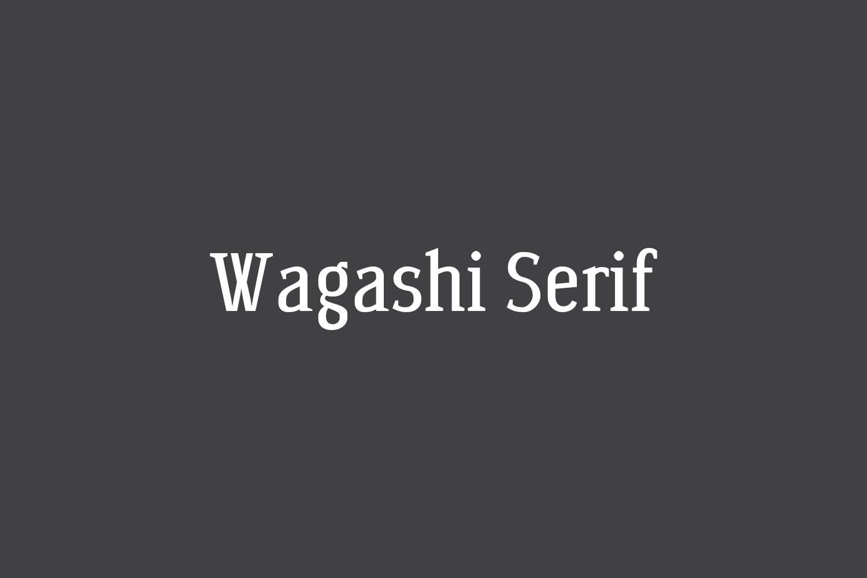 Wagashi Serif Free Font