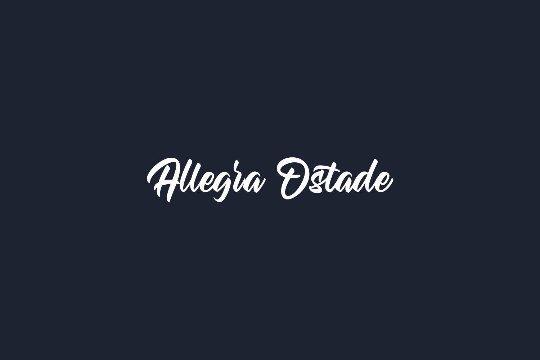Allegra Ostade Free Font