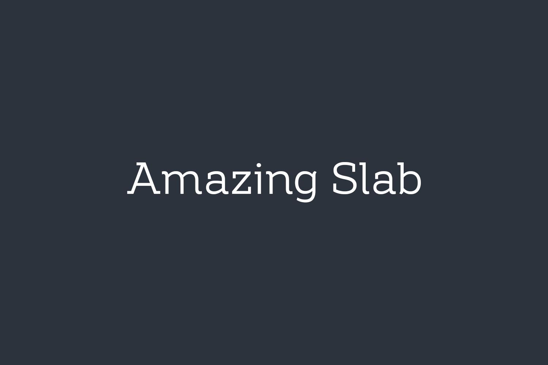 Amazing Slab Free Font