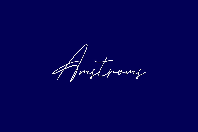 Amstroms Free Font