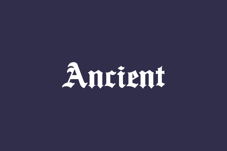 Ancient Free Font