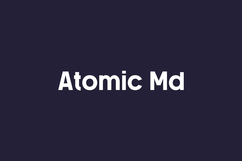 Atomic Md Free Font