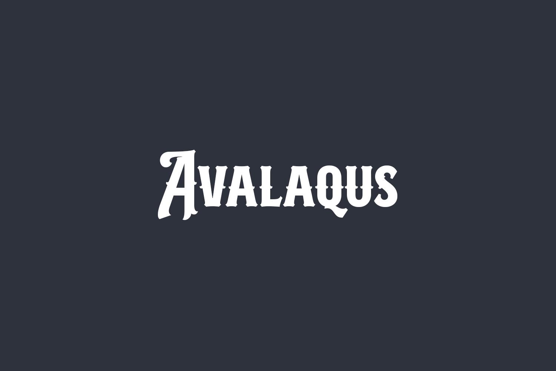 Avalaqus Free Font