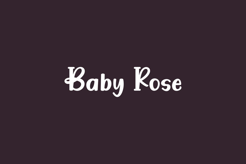 Baby Rose Free Font