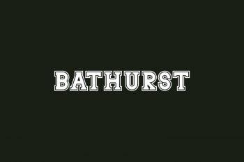 Bathurst Free Font