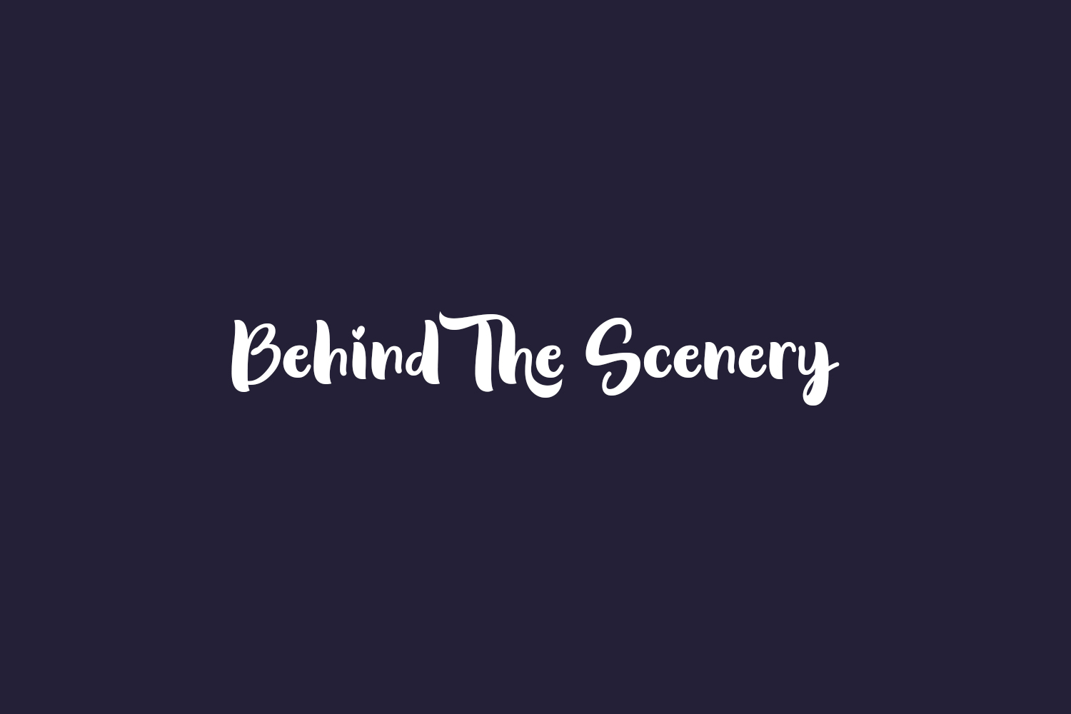 Behind The Scenery Free Font