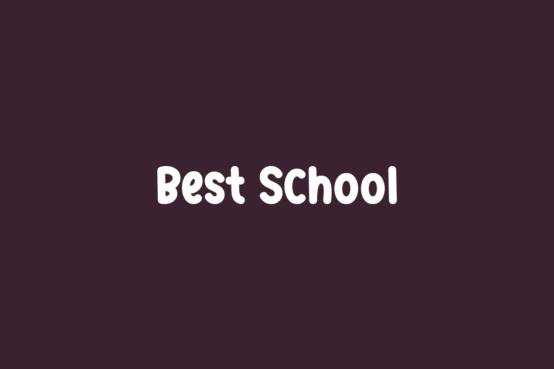 Best School Free Font