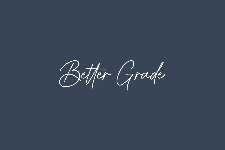 Better Grade Free Font