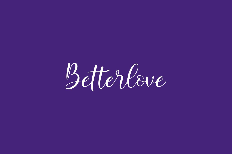 Betterlove Free Font