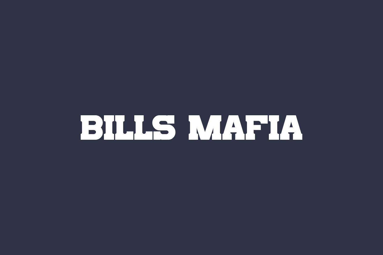 Bills Mafia Free Font