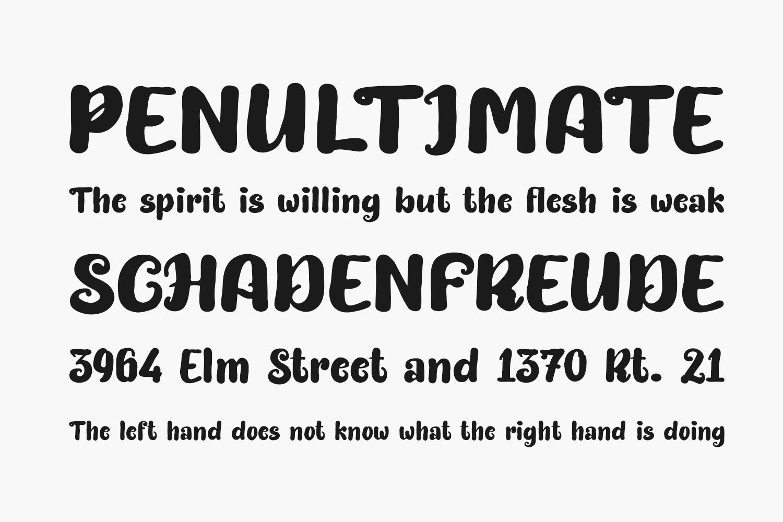 Bittermilk Free Font