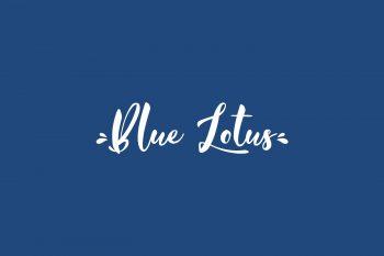 Blue Lotus Free Font