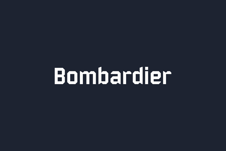 Bombardier Free Font