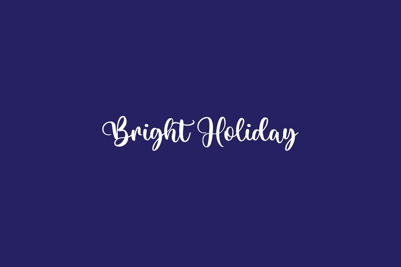 Bright Holiday Free Font