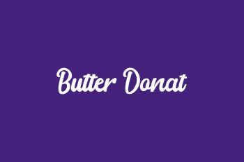 Butter Donat Free Font