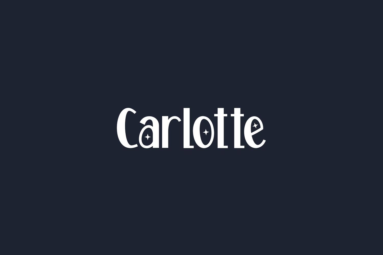 Carlotte Free Font