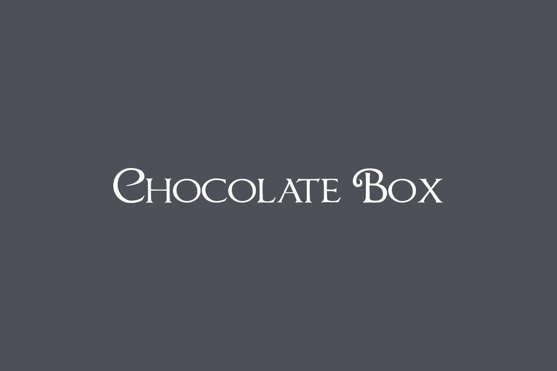 Chocolate Box Free Font