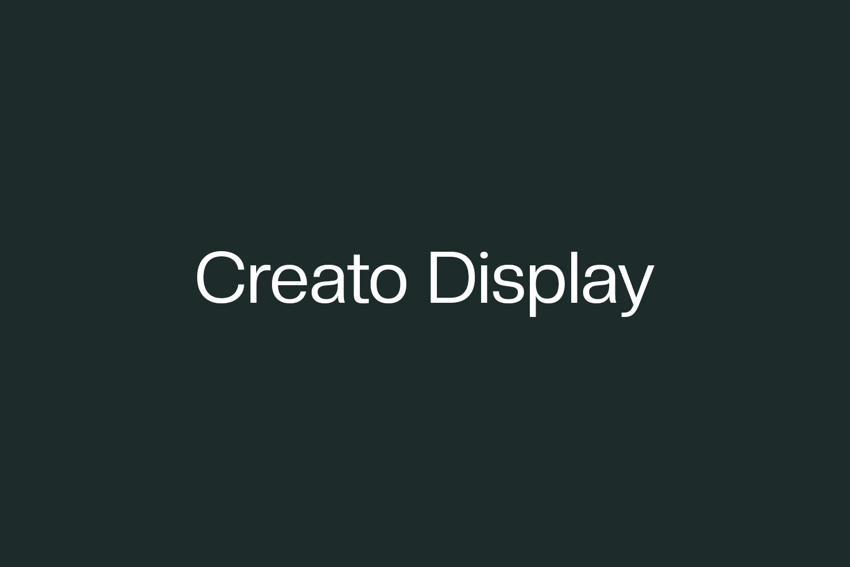 Creato Display Free Font