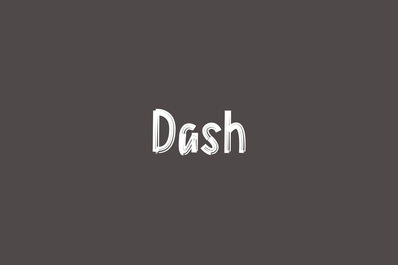 Dash Free Font