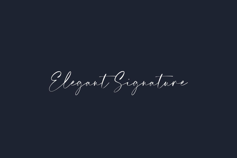 Elegant Signature Free Font