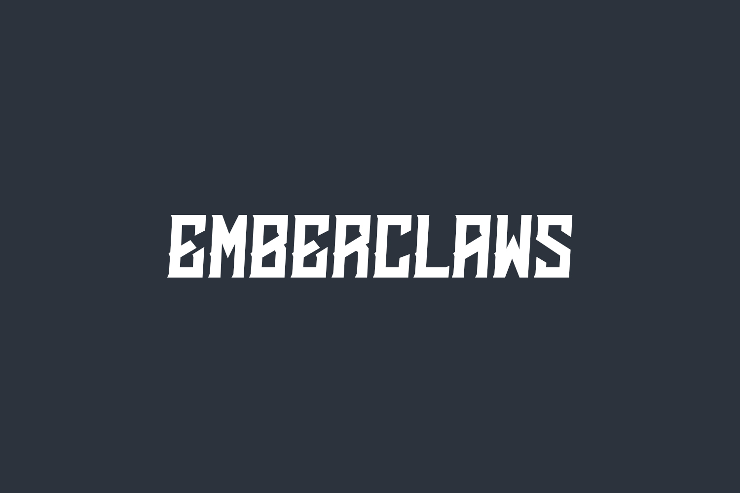 Emberclaws Free Font