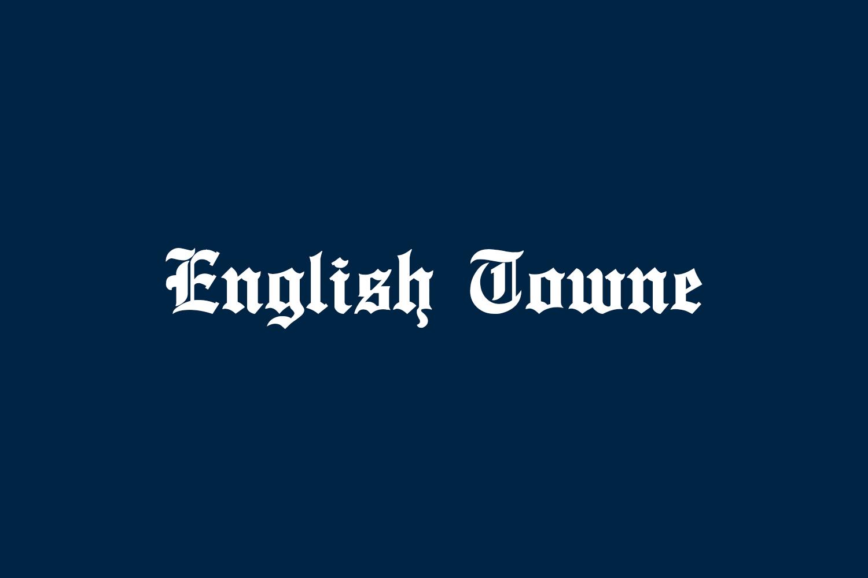 English Towne Free Font