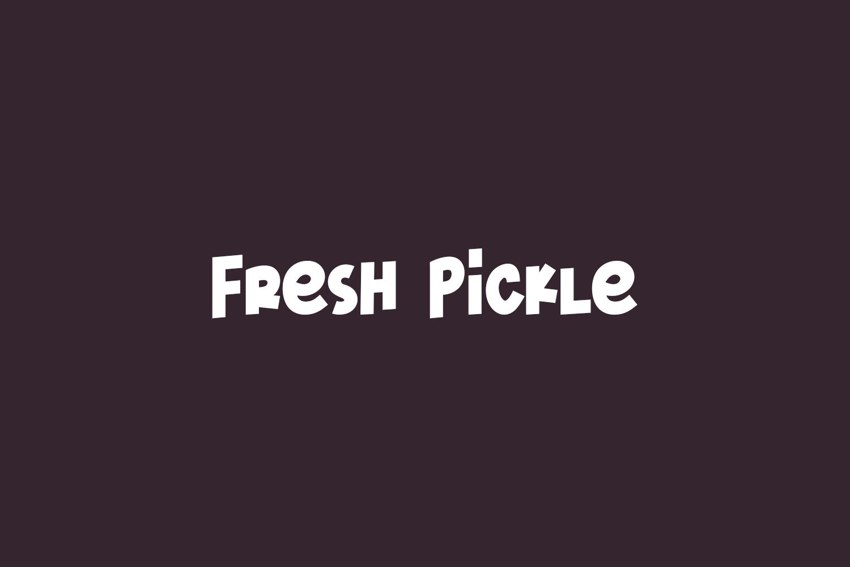 Fresh Pickle Free Font