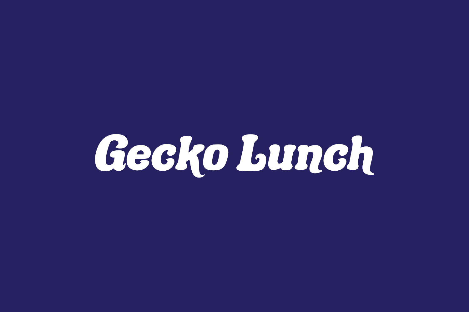 Gecko Lunch Free Font