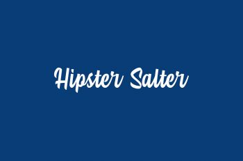 Hipster Salter Free Font