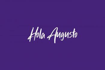 Hola Augusto Free Font