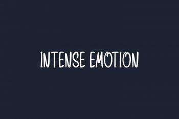 Intense Emotion Free Font